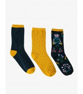 Koton 3'lü Kadın Çorap Lacivert - Mavi 9KAK81108AA616
