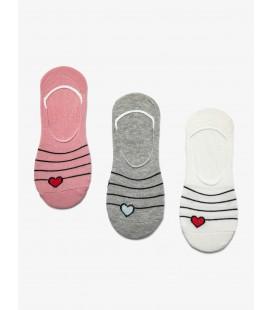 Koton 3'lü Kadın Çorap Gri 9KAK81041AA040