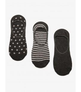 Koton 3'lü Kadın Çorap Antrasit 8YAK85045AA047