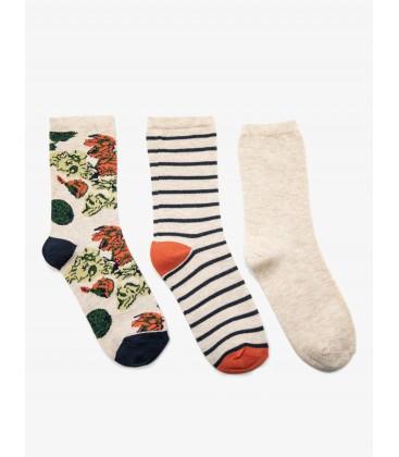 Koton 3'lü Kız Çocuk Çorap Haki 9KAK82006AA890