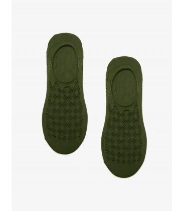 Koton Dantel Detaylı Çorap Haki 8YAK85088AA890