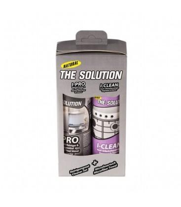 The Solution I-Set Ankastre Inox Paslanmaz Çelik Beyaz Eşya Yağ Sökücü Ve Parlatıcı Bakım Sıvısı