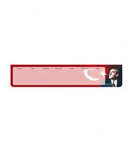 Keskin Color Planner Haftalık Bloknot 7,5x40 830141-99