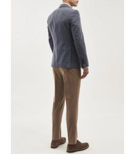 ALTINYILDIZ CLASSICS Erkek Mavi Slim Fit Desenli Ceket 4A0419100029
