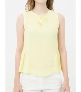 Koton Yaka Detaylı Bluz Sarı 6YAK38499GW174