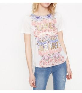 Koton Yazılı Baskılı T-Shirt Beyaz 7YAK16303IK000