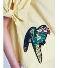 Koton Nakış Detaylı Bluz Sarı 7YAL61487JW01I