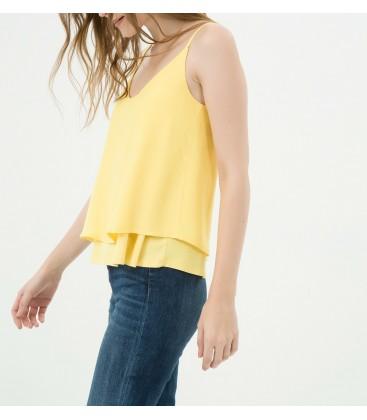 Koton Dökümlü Bluz Sarı 6YAK38516PK155