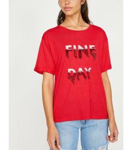 Koton Pul Detaylı T-Shirt Kırmızı 8YAK13087GK401