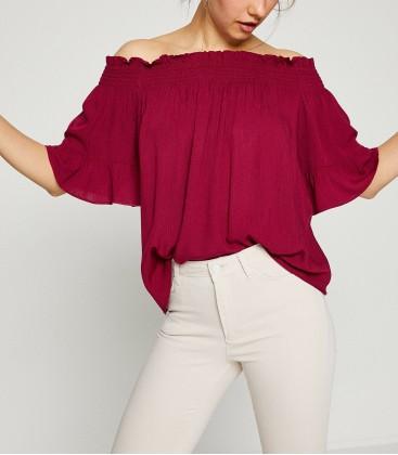 Koton Kadın Kırmızı Bluz 8YAL61216QW440