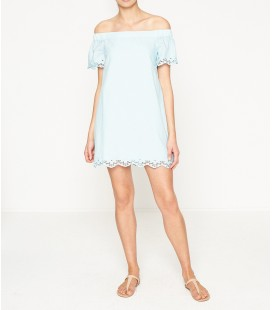 Koton Omuz Detaylı Elbise Mavi 7YAL81519JW637