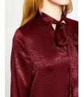 Koton Yaka Detaylı Bluz Şarap 8KAK68806PW492