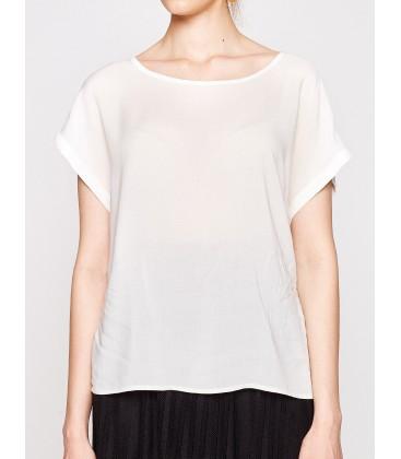 Koton Kadın Oyuk Yaka Bluz Beyaz 7YAK62417OW001