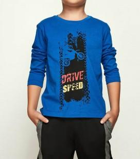 B&G Store Erkek Çocuk Saks T-Shirt 18FW2NB3539