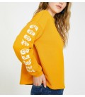 Koton Kadın Baskılı Sweatshirt Hardal 9YAL18403IK159