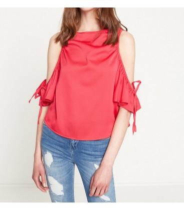 Koton Kadın Omuz Detaylı Bluz Fuşya 7YAF60105GW320