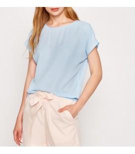 Koton Kadın Oyuk Yaka Bluz Açık Mavi 7YAK62107CW610