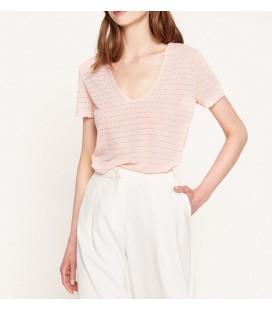 Koton Kadın Desenli T-Shirt Gül 7YAK13261EK250