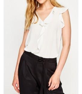 Koton Fırıfırlı Bluz Beyaz 7YAK68359PW001
