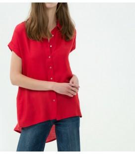Koton Kadın Klasik Yaka Gömlek Kiremit 7KAK63065EWO97