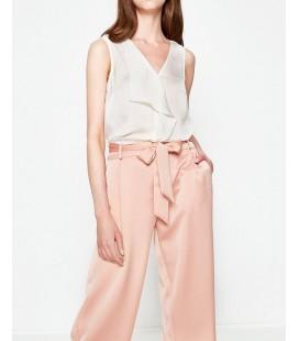 Koton Kadın Fırfır Detaylı Bluz Beyaz 7YAK32503UW001