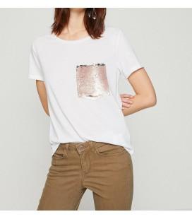Koton Kadın Pul Detaylı T-Shirt Beyaz 8YAK13852GK000