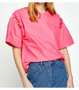 Koton İnci Detaylı Bluz Pembe 7YAK68339PW909