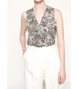 Koton Çiçekli Bluz Yeşil 7YAK63251EWE30