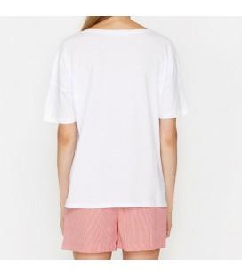 Koton Kadın Baskılı T-Shirt Beyaz 9KAL11251JK001