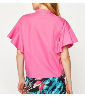 Koton Kadın Fırfır Detaylı Gömlek Fuşya 7YAK68910PW301