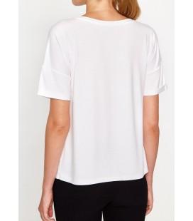 Koton Yazılı Baskılı T-Shirt Beyaz 8KAK12383YK000