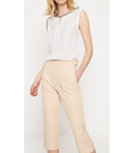 Koton Yaka Detaylı Bluz Beyaz 7YAK32434CW001