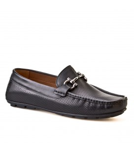Cabani Tokalı Loafer Erkek Ayakkabı Siyah Analin Deri 010M823B