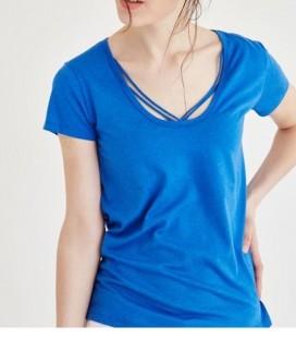 Oxxo Modbiyetop Kadın Tişört Mavi