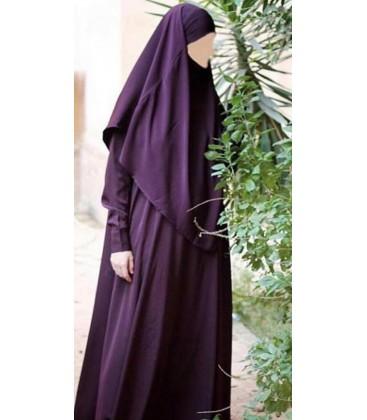 Kadın Renkli Cilbab Takımı Standart Beden