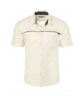 California Forever Men's Short Sleeve Shirt Cream AV99021-7499