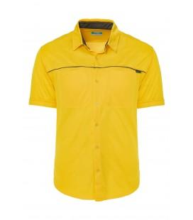 California Forever Men's Short Sleeve Shirt Yellow AV99021-1355