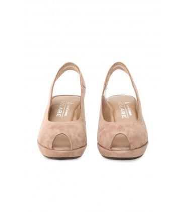 Divarese LUCA GROSSI VOLARE - Sandalet  Platformlu Süet Vizon Sandalet 5022892-542