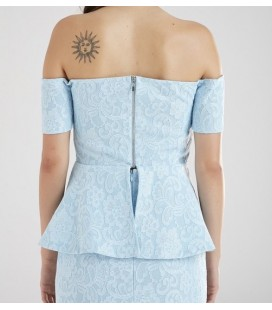 Adl Omuzu Açık Askılı Kadın Bluz - 115L5008000 - Açık Mavi