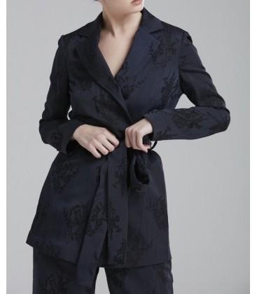 Love My Body Kuşaklı Kadın Ceket - 119L5040000 - Lacivert