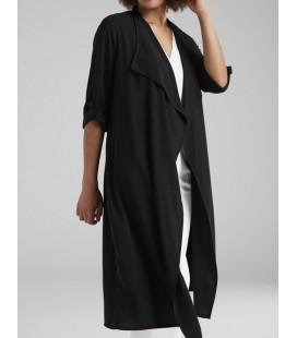 Love My Body Kadın Uzun Ceket - 119L5167000 Siyah