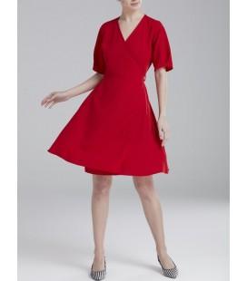 Love My Body Kadın V Yaka Elbise - 124L5293000 - Kırmızı