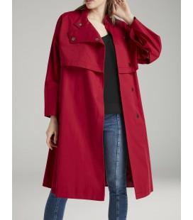 Love My Body Kadın Kolları Çıtçıtlı Kırmızı  Trençkot 178L4362000