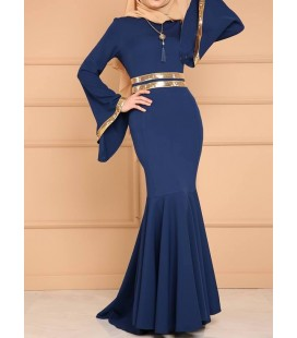 Moda Selvim Payet Şeritli Balık Abiye MSW8290