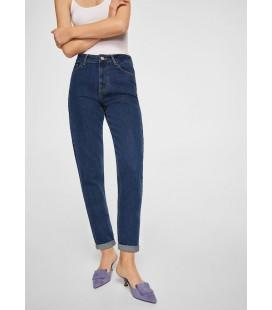 Mango Kadın Kot Pantolon - 23053020 - Lacivert Kot Pantolon