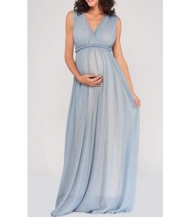 Lyn Devon Hamile Mavi Valentına Elbise M1583