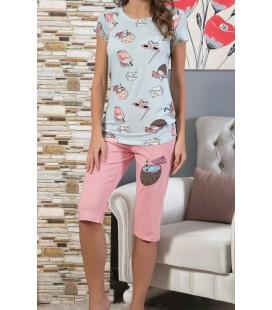 Sexen Homewear Kapri Takım 02226