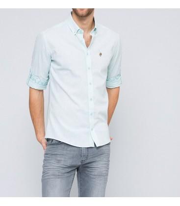 U.S. Polo Assn. Erkek Gömlek Su Yeşili G081SZ004.ACTO.459061.VR048