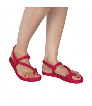 Nomadic Hawaii Kırmızı Halat - İp Kadın Sandalet - 18058