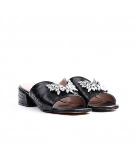 Lutvelizade Valkyrie Kadın Siyah Topuklu Terlik 19YW011080028